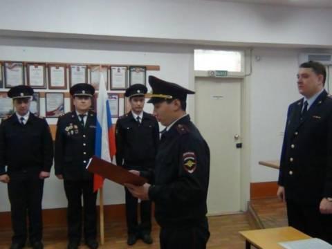 В Кизильском молодые полицейские приняли присягу