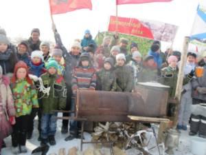 В посёлке Карабулак состоялся праздник в честь Дня защитника Отечества