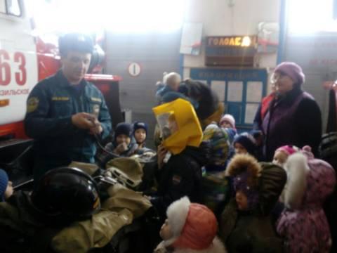 Экскурсия для дошкольников в 63 пожарно-спасательную часть