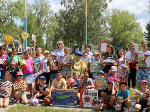 Сотрудники полиции организовали спортивные мероприятия для детского лагеря «Солнечный»