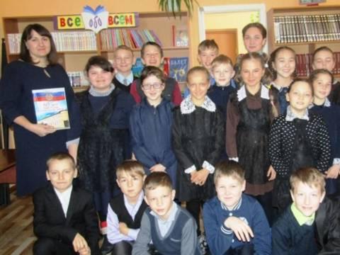 13 декабря в детском отделе Кизильской районной библиотеки для учащихся КСОШ № 1 был проведён урок мужества «На службе Отечеству»