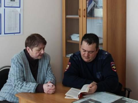 Представитель общественности посетила опорный пункт участкового уполномоченного полиции