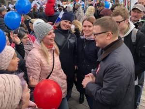 Алексей Текслер принял участие в митинге, посвященном празднику Весны и Труда