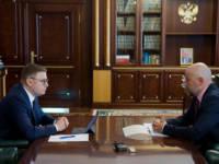 Алексей Текслер провёл встречу с Сергеем Обертасом